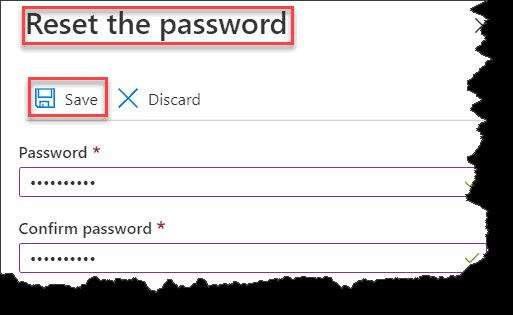 Change Password for Azure Database