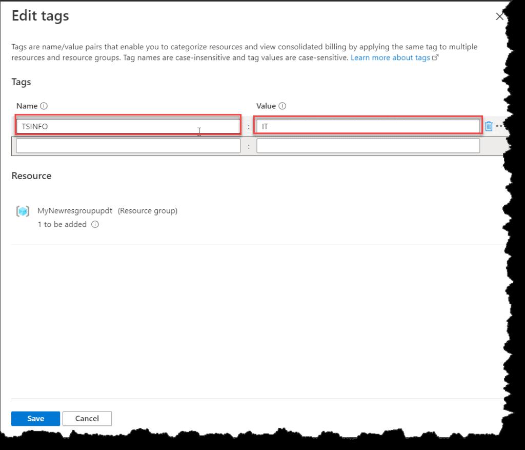 How Do I Make Azure Tag using Azure Portal