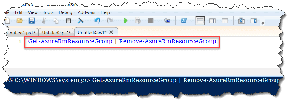 How do I delete all resource groups in Azure