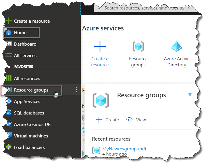 How do I find a Resource Group in Azure