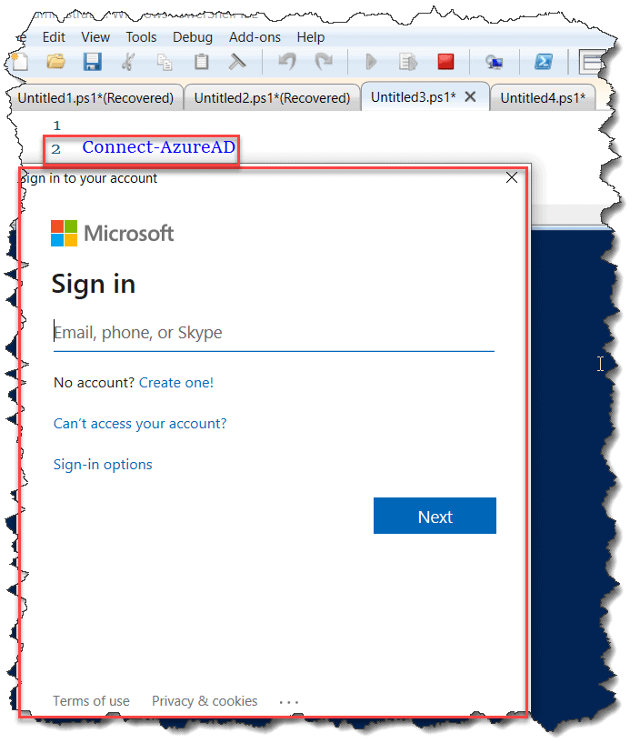 How to connect to Azure AD