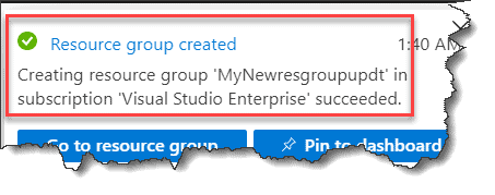 How to create a Resource Group in azure portal