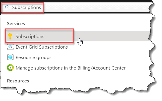 How to create a Subscription in Azure