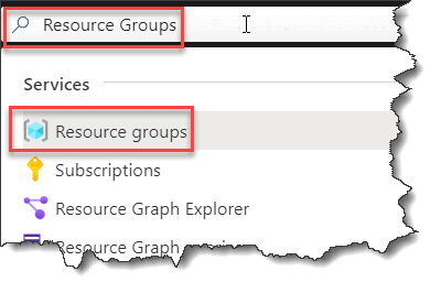 How to find the Resource Group in Azure