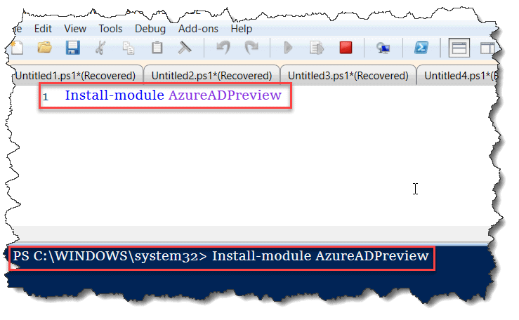 Installation of AzureADPreview module