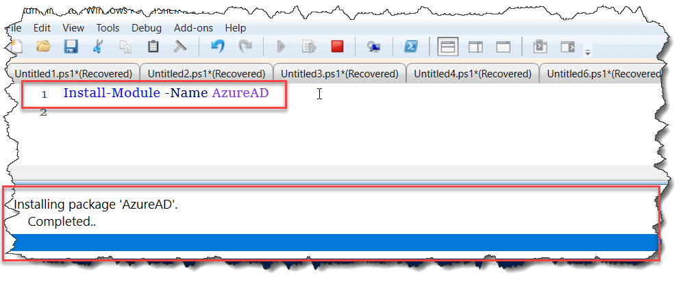 Installation of the Azure AD Module Powershell