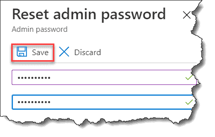 Reset Azure SQL Server Password