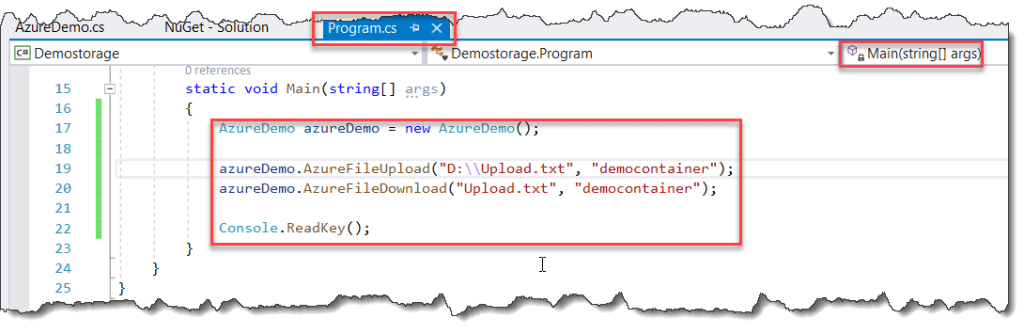 Steps to upload file in Azure blob storage using C#