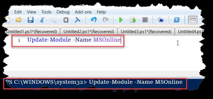 Update Azure AD PowerShell Module