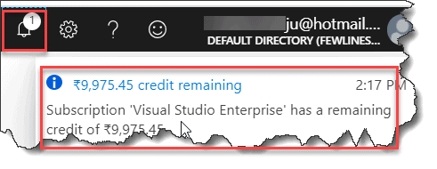 how to check remaining credits in azure