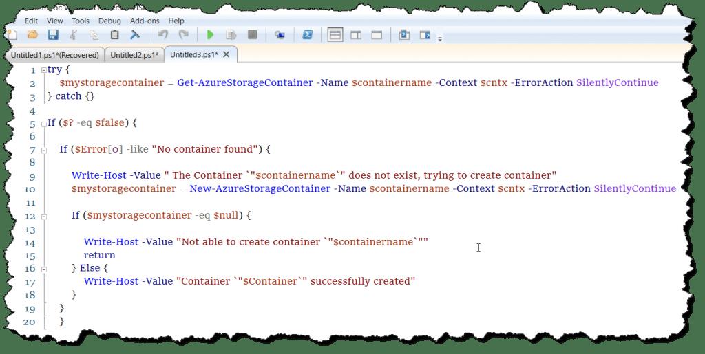 backup azure blob storage using powershell script