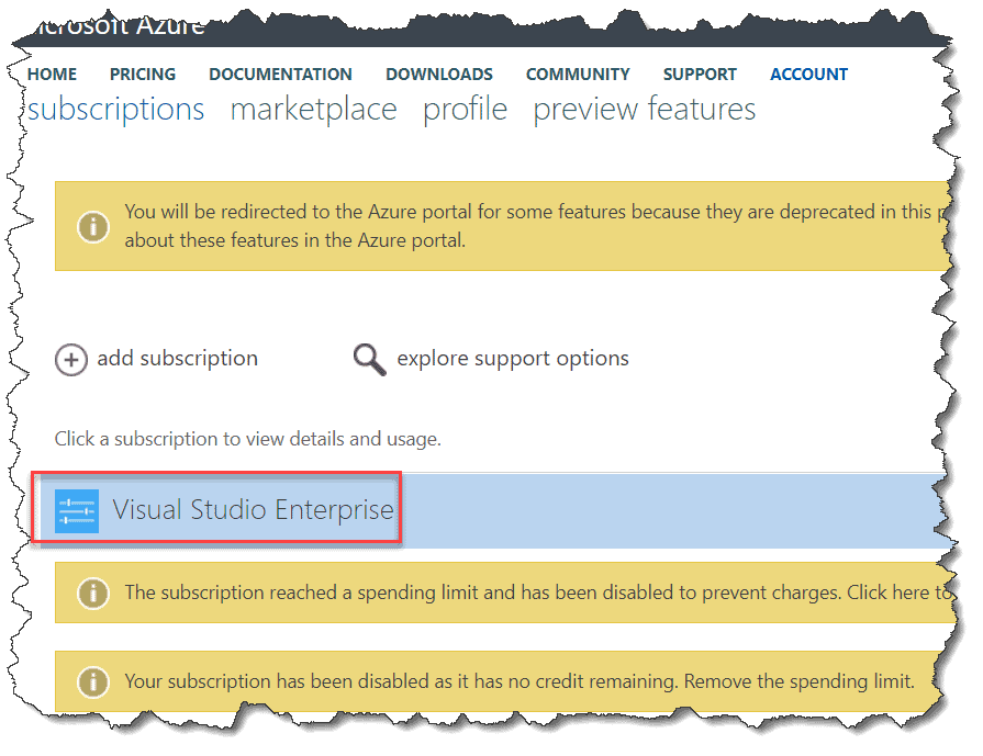 how to cancel azure subscription