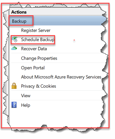 how to create backup policy mars