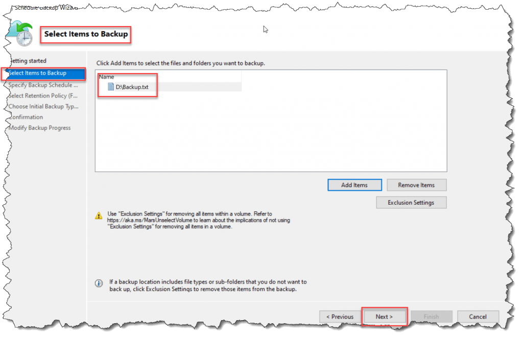 how to create backup policy using mars