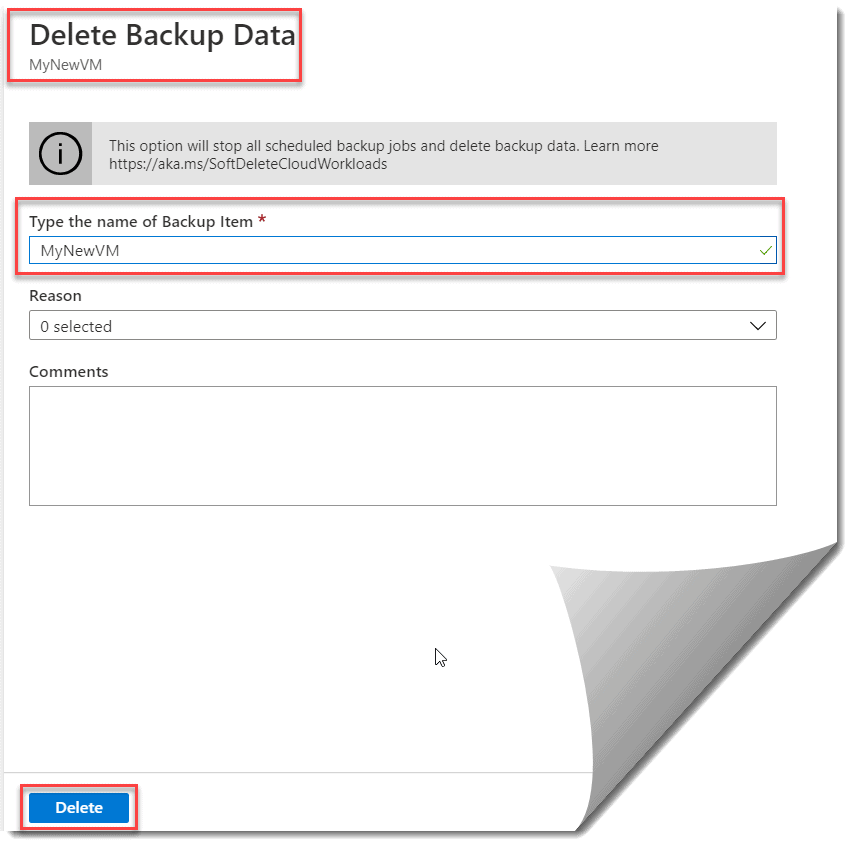 How to delete azure backup vault