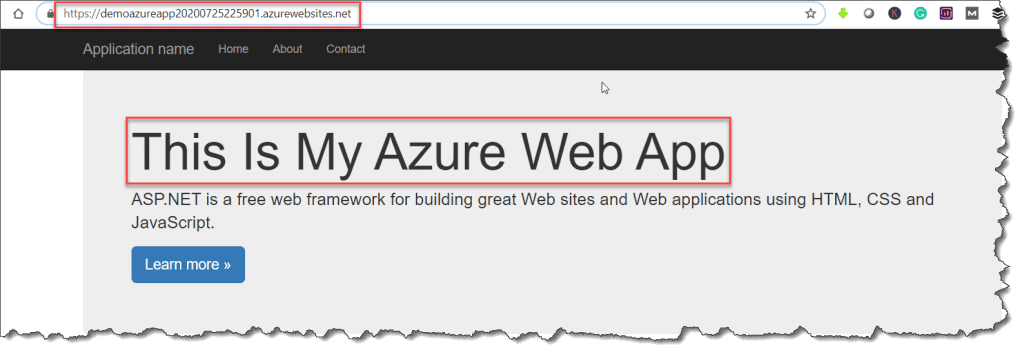 how to deploy website to azure