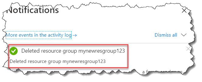remove resource group azure