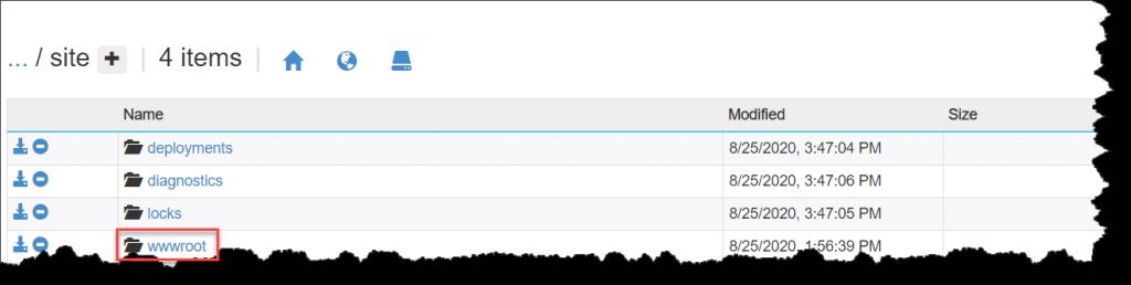 Access Azure Functions wwwroot Folder using Kudu