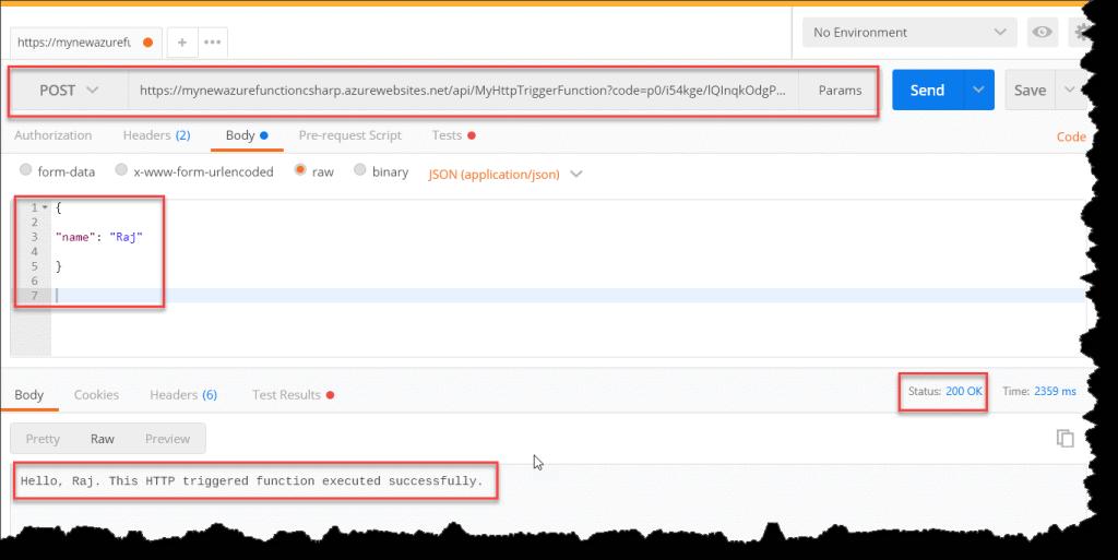 Azure Function Using C#