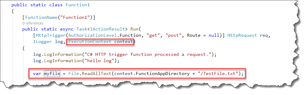 Azure Function save file locally