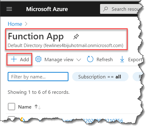 Azure Functions using c#
