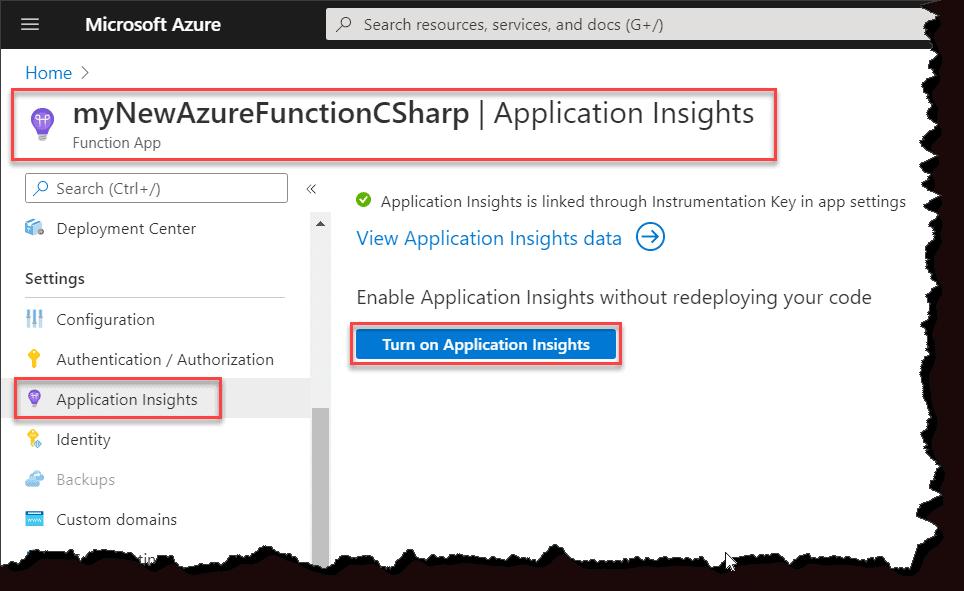 Configure Azure Application Insights