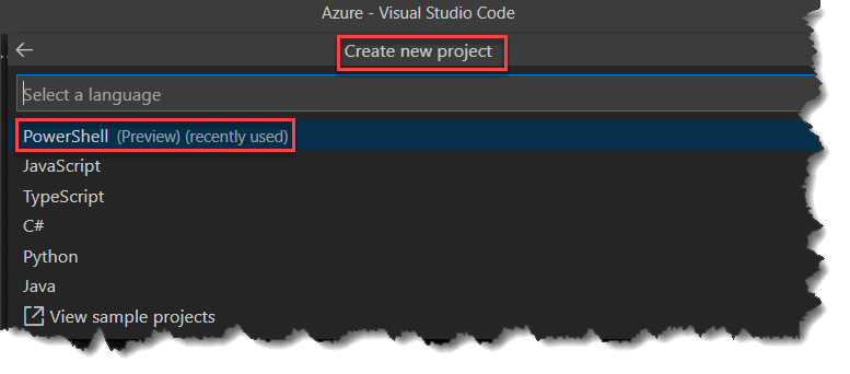 Create Azure Function App Using PowerShell in Visual Studio Code IDE