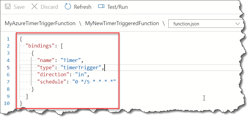 Create Azure PowerShell Timer Trigger Function