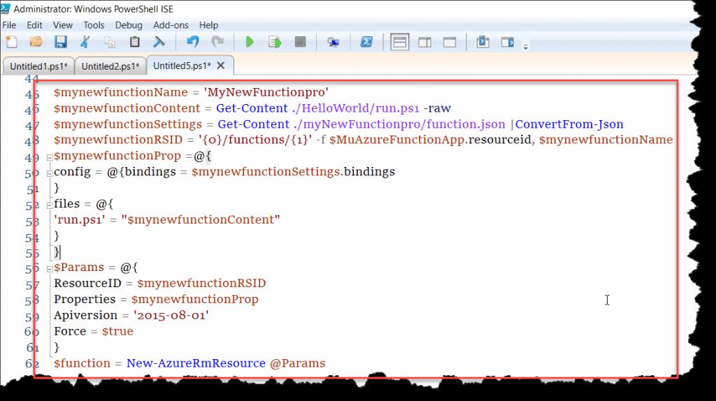 Create Azure function PowerShell