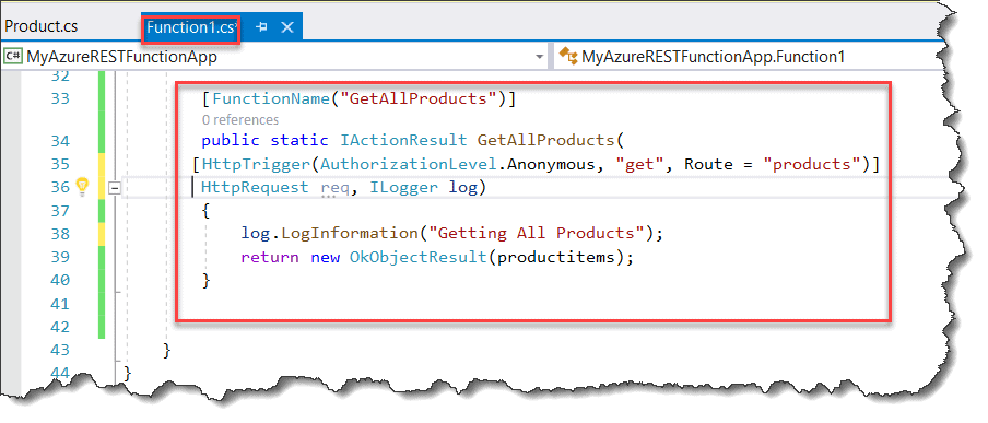 Create REST API With Azure Functions using Visual Studio 2019