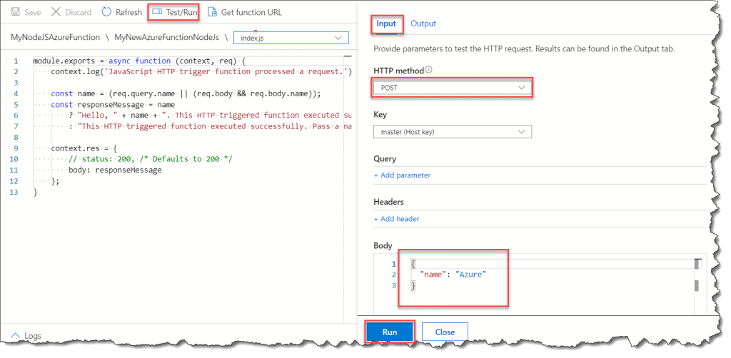 Creating a Simple Azure Function in JavaScript with VS Code
