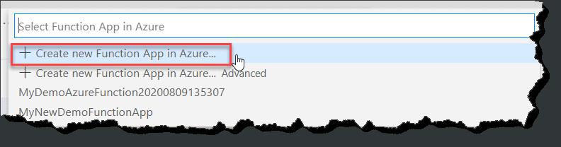 Deploy Azure function using visual studio code