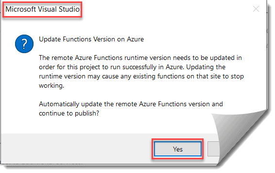Deploy the Azure Function using Visual Studio
