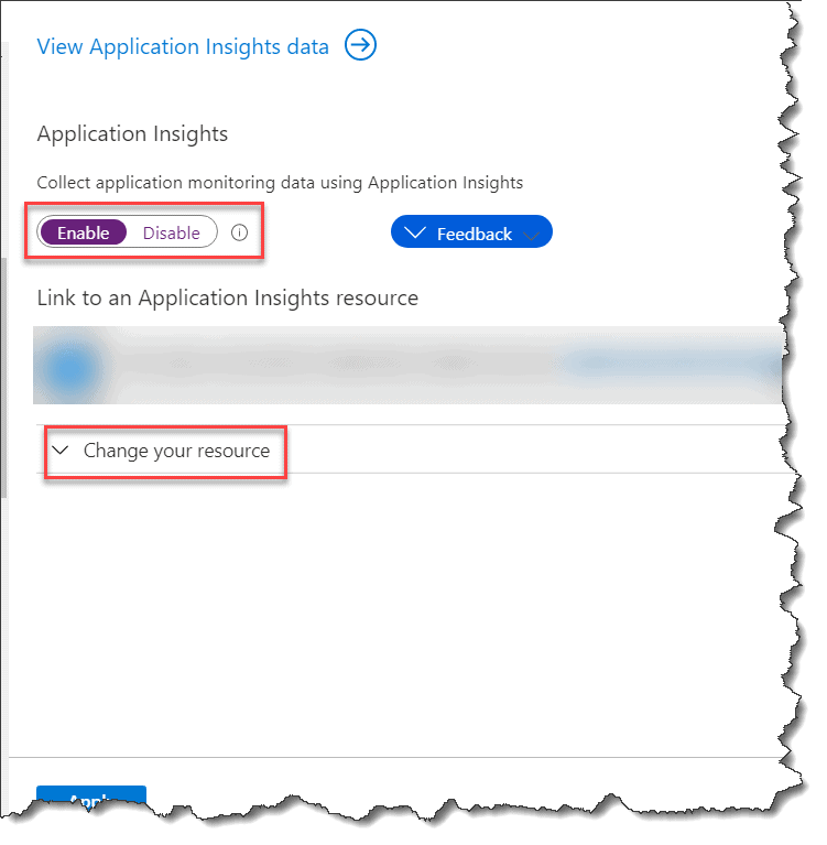 Enable Azure Application Insights 1