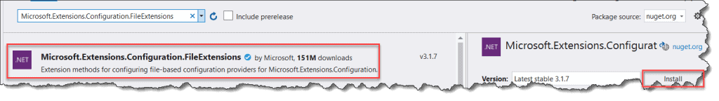 iconfigurationbuilder does not contain a definition for addjsonfile
