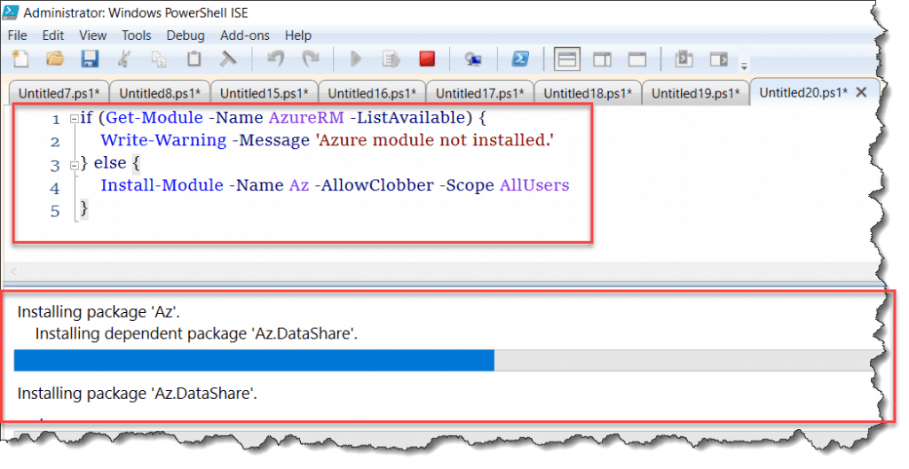 Error installing the PowerShell Azure Module