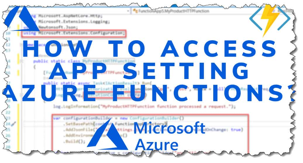 How To Access App Setting Azure Functions