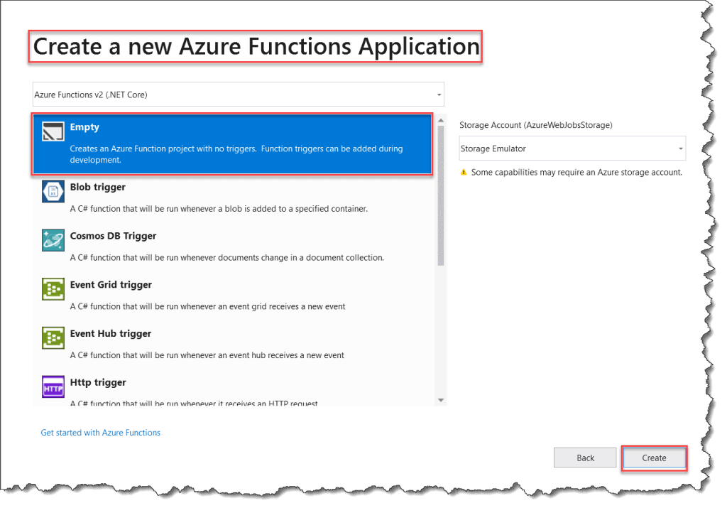 How To Create Azure Functions .Net Core Version Visual Studio 2019