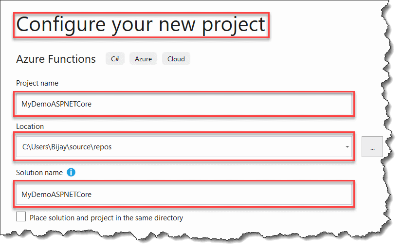 How To Create Azure Functions .Net Core Version