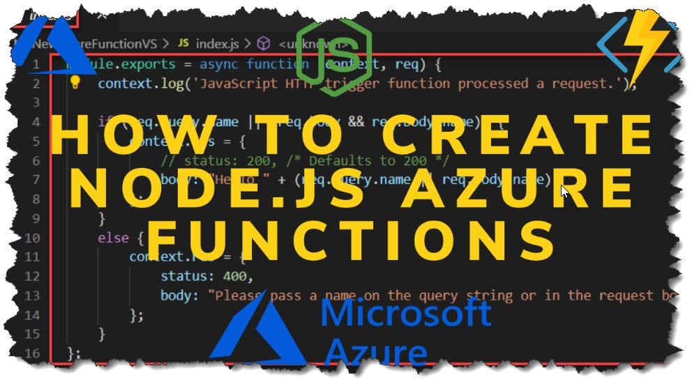 How To Create Node.js Azure Functions