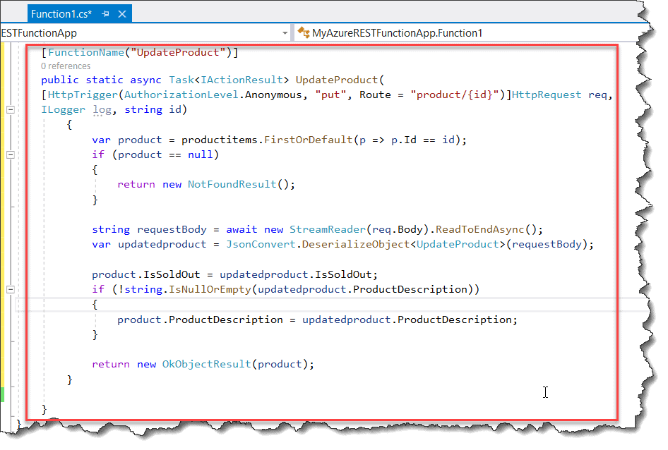 How to Create a REST API with Azure Functions using Visual Studio 2019