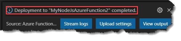 How to Deploy the Node.Js Azure Function to Azure Portal