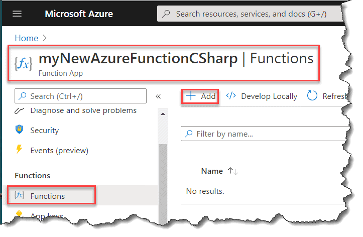 How to create azure function in azure portal