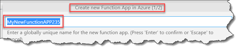 How to deploy azure function from visual studio code
