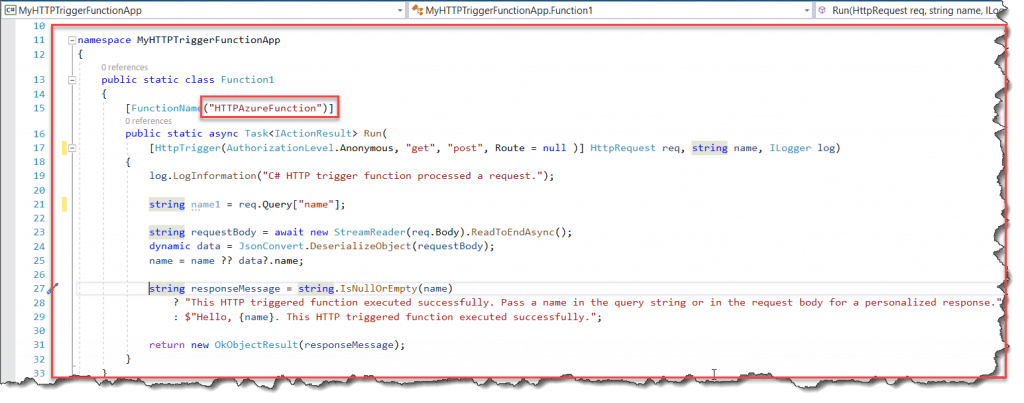 Microsoft.Azure.WebJobs.Host: Cannot bind parameter 'name' to type String