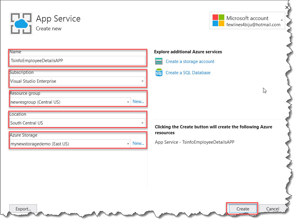 Deploying the Azure Function from Visual Studio 2019