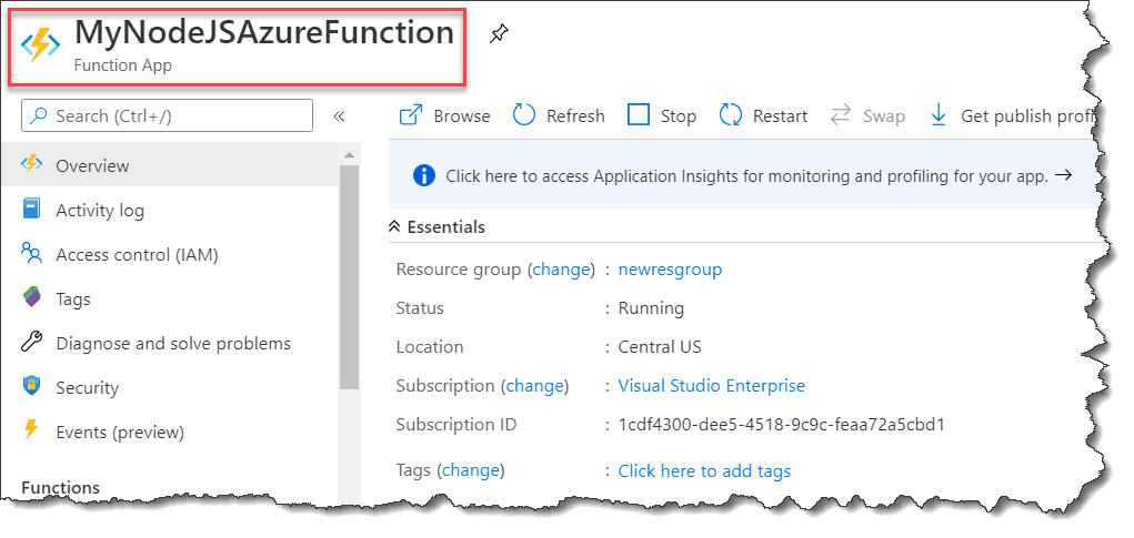 Steps To Create Node.js Azure Functions