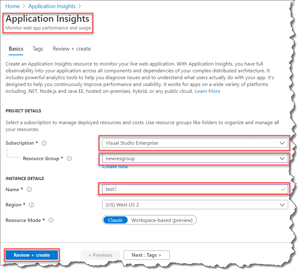 azure function application insights dependency injection
