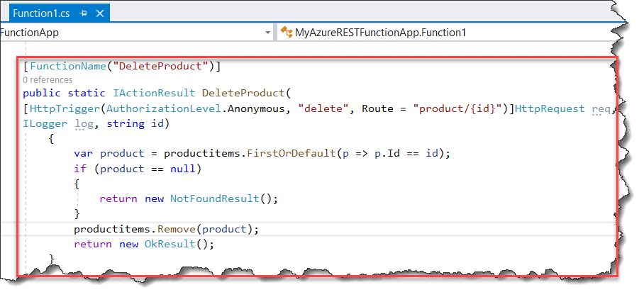 azure functions rest api example c#