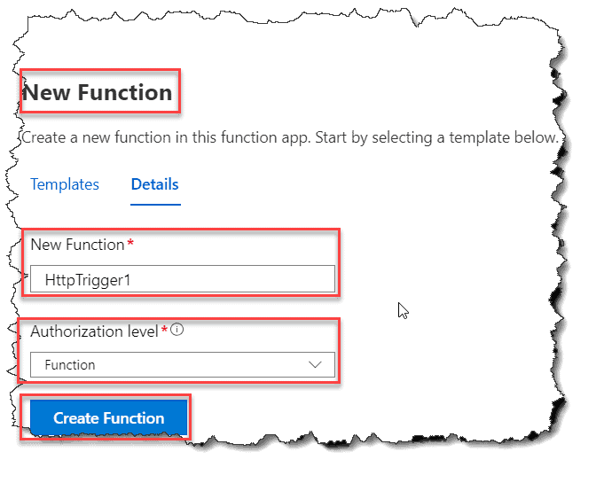 create azure function in azure